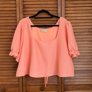 LOVEFOOL Square Neck Cinched Blouse